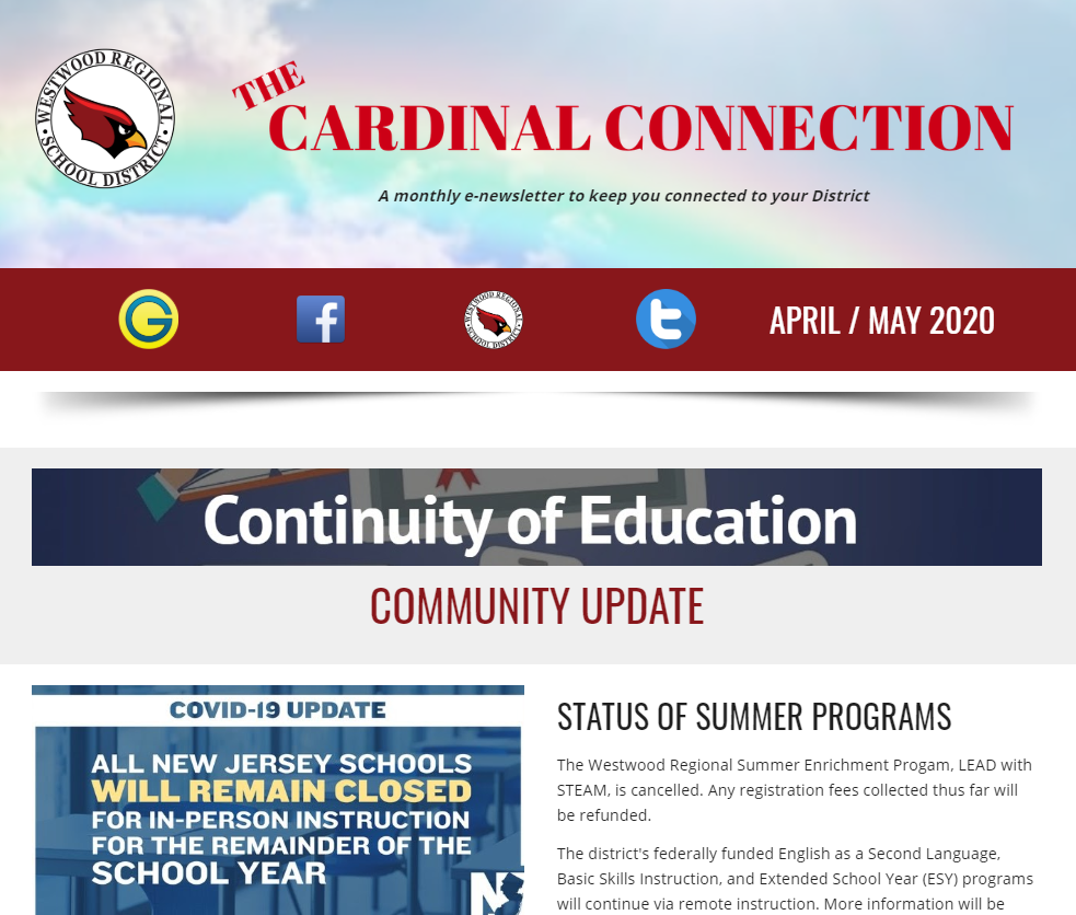 April / May Cardinal Connection