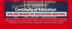 January 21 Online Board of Education Meeting