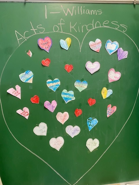 board with acts of kindness