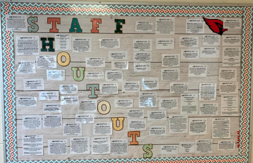 Staff Shout Out Board