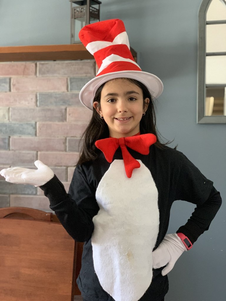 girl cat in the hat