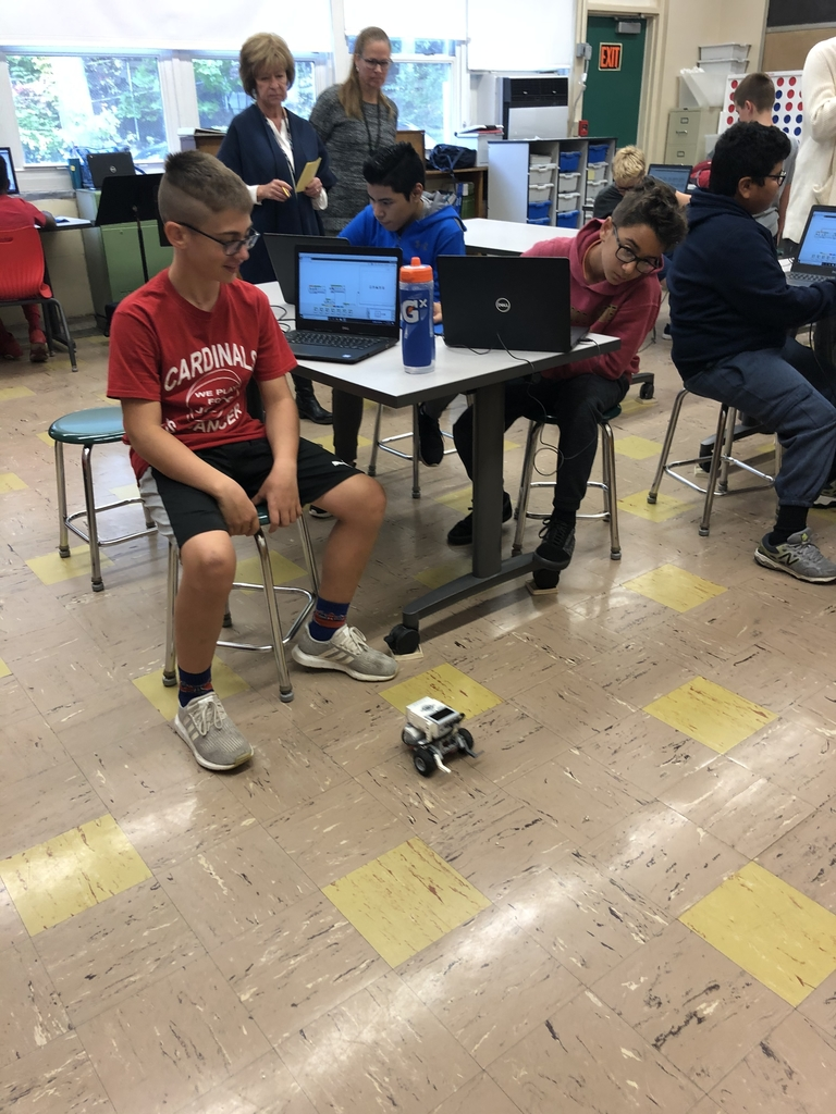 Students testing their robots!