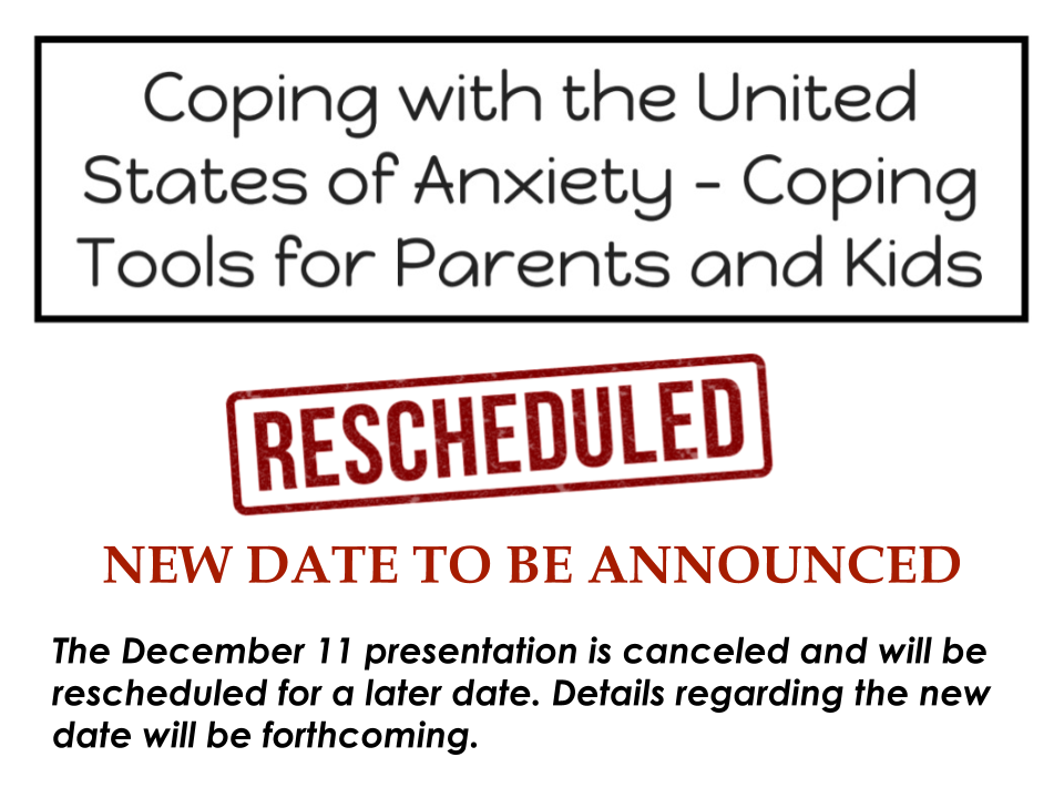 Presentation Rescheduled