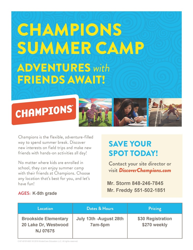 Champions Summer Camp Offering